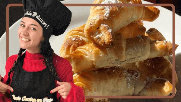 Cómo Hacer Croissant o Cruasanes de Hojaldre Caseros Rellenos de Nutella