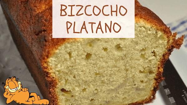 Bizcocho de Plátano Casero, Esponjoso y Fácil