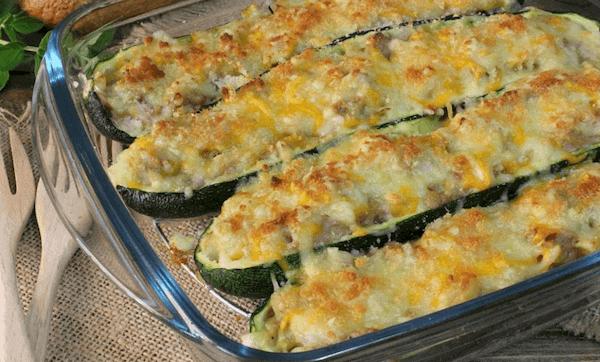 Calabacines Rellenos de Atún y Verduras al Horno Fácil y Light