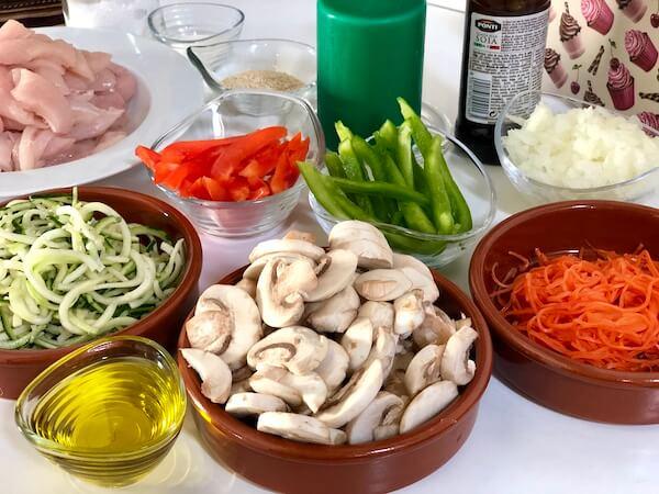 Pollo con Verduras al Estilo Chino