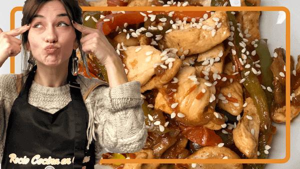 Pollo con Verduras Salteadas al Estilo Wok Chino o Chop Suey