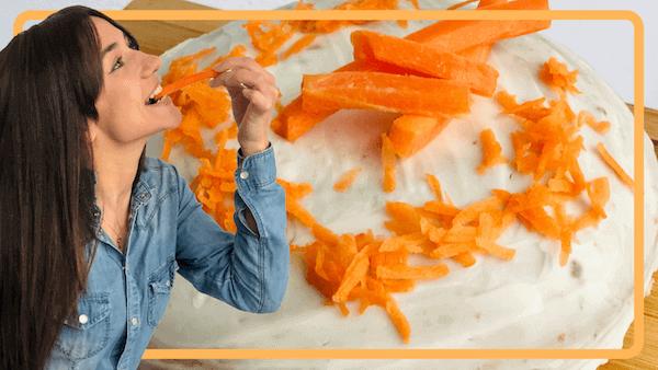 Tarta de Zanahoria, Nueces, Queso, Casera, Americana y Light