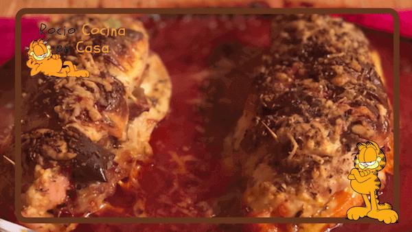 Pechugas de Pollo Rellenas al Horno de Jamón y Queso