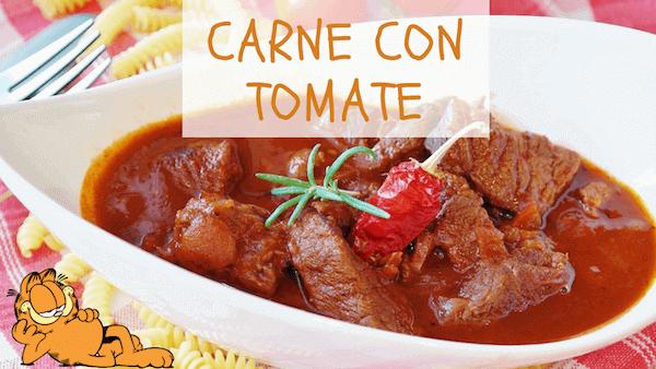 Receta de Carne con Tomate