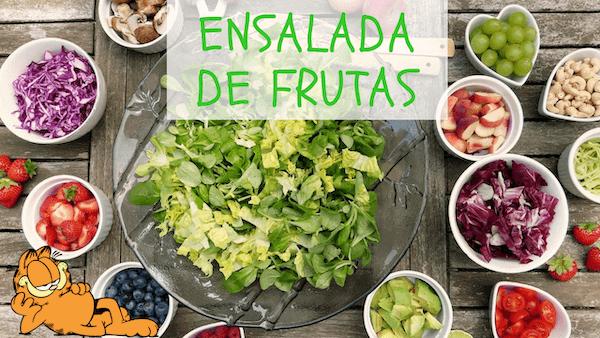 Ensalada de Frutas Verdes y Verduras Crudas con Yogur Receta Colombiana