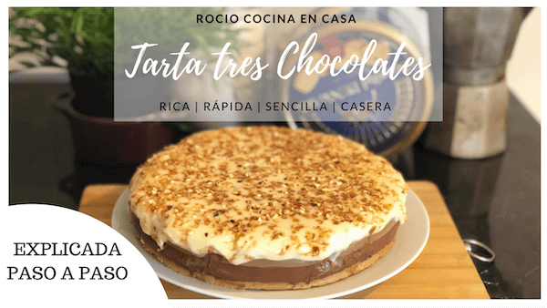 Tarta Tres Chocolates Con Gelatina sin Horno ni Termomix